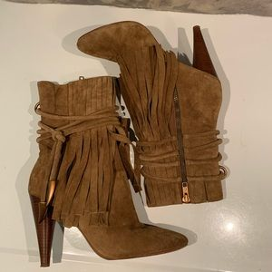 "GORGEOUS ASH ""BIRD"" MIDCALF FRING BOOTS SIZE 39"